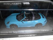 Minichamps 1:43 410067342 PORSCHE 911 TARGA 4GTS 2017 BLUE NEU OVP