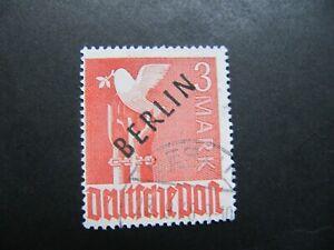Berlin ( West ) 1948,  Freimarke,  MiNr: 19 gestempelt  Bdr - Aufdruck schwarz