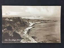 Vintage RPPC: Dorset: #T43: The Two Bays, Swanage: Posted 1926
