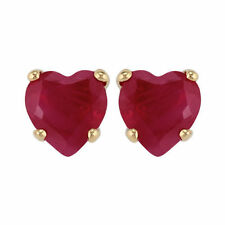 Stud Ruby Yellow Gold Fine Earrings