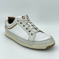 FootJoy Mens Contour Casual 54251 White Leather Spikeless Golf Shoes Size 10