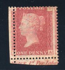 penny red plate Sg 43/44 plate 90 ( T A )  Mint No gum part marginal inscription