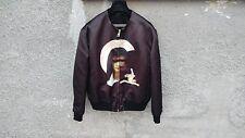 $2850 GIVENCHY Madonna e Gesù bambino in raso viola Bomber Taglia 50