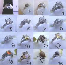 cubic zirconia others are genune gemstones womens fashion rings white stones are