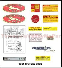 Under-Hood & Trunk Decal Set for 1960-1962 Chrysler & Imperial