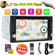 """Double 2Din HD 6.2"""" In Dash Car Stereo DVD Player Touchscreen Auto Radio GPS+Cam"""