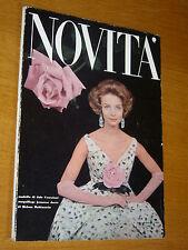 NOVITA VOGUE=1959 GENNAIO=MODA FASHION MAGAZINE VINTAGE RIVISTA=