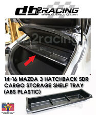 2014-2017 Mazda 3 (5-door Hatchback) Cargo Storage Shelf Tray - ABS PLASTIC