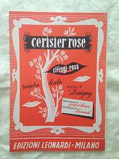 Spartito - Cerisier rose et Pommier blanc - Musica di Louiguy - 1950