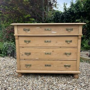 French / Dutch Antique Pine Chest Of Drawers