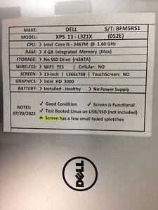 Dell XPS 13 L321X *Parts/Repair* i5/4GB/BATT - No OS/HDD/CHRG