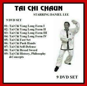 TAI CHI CHUAN W/ DANIEL LEE 9 DVD Set yang long form kung fu panther productions