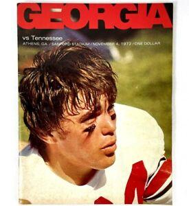 1972 University of Georgia Football Program vs. Tennessee Vols Vince Dooley