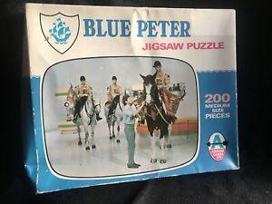 1971 BLUE PETER TV SCREEN  Puzzle JOHN Noaks 200 PIECE ARROW JIGSAW Memorabilia