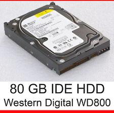 80GB IDE PATA HDD HARD DISC DRIVE 40P HDD WESTERN DIGITAL WD800 WD800BB  #F5