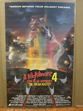Vintage A Nightmare on Elm Street 4 The Dream Master movie poster  9023