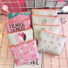 Mini Wallet Handbag Hot Flamingo Cartoon Coin Purse Women Keys PU Zip Bag Gift