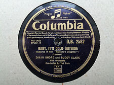 DINAH SHORE & BUDDY CLARK - Baby, It's Cold Outside 78 rpm disc (A+++)