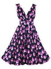 50's, Rockabilly Floral Regular Size Dresses for Women