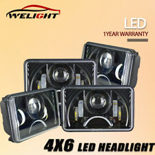 """4Pcs 4"""" X 6"""" Square LED Headlight High/Low Beam for Ford Mustang Truck Offroad"""