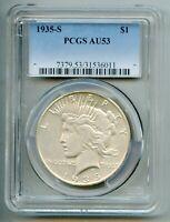 1935 S Peace Silver Dollar PCGS AU 53