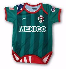 Mexico USA Proud Orgullo Baby Onepice Jumpsuit Mameluco 6-12 Months