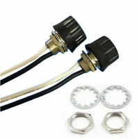 2 Sets Rotary Style On/Off Canopy Switches 3/1 amps at 125/250 Black