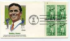1933 Bobby Jones Fleetwood Plate Block FDC