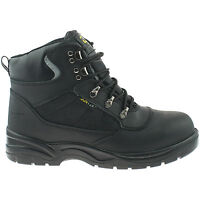 GRAFTERS LEATHER SAFETY BOOT SIZE UK 3 - 14 WATERPROOF STEEL TOE BLACK M161 KD