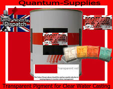 Rojo Transparente Pigmento 100g para poliéster Gelcoat / Resina / Agua Transparente De Resina