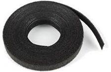 Cable Ties Velcro Double-Sided Strip 25mm Wide Hook & Loop Reel Black 25m