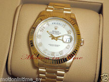 Rolex 218238 Day-Date II 41mm 18kt Yellow Gold President Ivory Concentric Dial
