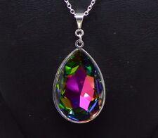 with Swarovski in Vitrail Rainbow Pear-Cut Teardrop Crystal Pendant made
