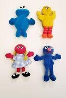 TYCO Sesame Street Bean Bag Plush Cookie Monster Big Bird Grover Betty Lou 1997
