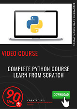 Complete Python Course - Learn From Scratch video course training tutorial