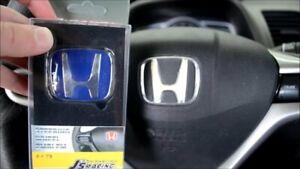 Js racing blue TYPE R steering wheel badge emblem HONDA CIVIC EK FC1 FK8 FN2 FD2