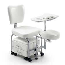 Adjustable Manicure Pedicure Nail Station Beauty Chair Stool Table SPA Drawer