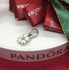 Pandora Silver Primrose Enamel Pendant  - 390365EN12 Authentic Ale 925 White