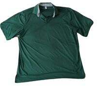 FOOTJOY  Mens Size XXL  Polo Shirt Golf Green Stretchy Breathable Striped Collar