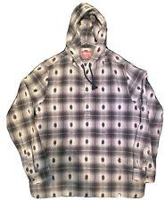 Supreme Shadow Plaid Hooded Flannel Shirt Medium Grey FW 2014 Ian Connor