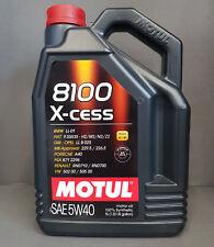 1x MOTUL 8100 X-cess SAE 5w40 ACEITE DE MOTOR 5 Litros A