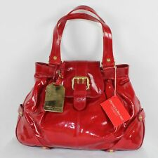 Dooney Bourke Red Patent Leather Hayden Large Shoulder Bag