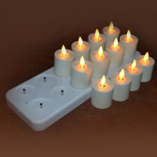 Luminara Tea Light Moving Wick Led Ivory candles Rechargeable/Timer/Remote Ready