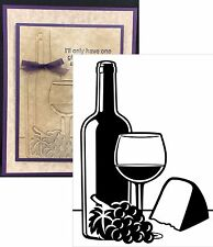 Wine & Cheese Darice Embossing Folders Food Drink 1219-217 Cuttlebug Compatible