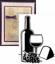 Wine & Cheese embossing folder - Darice Embossing Folders Food Drink 1219-217