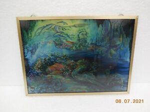 Vintage Tiffany Style Repro Stained Glass Suncatcher Panel Glassmasters USA
