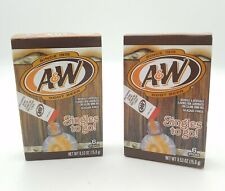 2 A&W Singles To Go Powder Packets Sugar Free Non-Carbonated Root Beer Water!