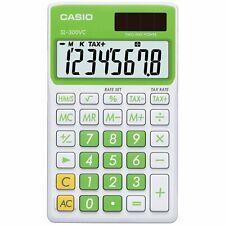 Casio - SL-300VC - Pocket Calculator, 8 Digit Display - Baby Leaf Green