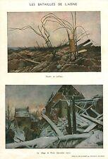 Document Ancien Issu de Magazine Les Batailles de l'Aisne  1918  P 35