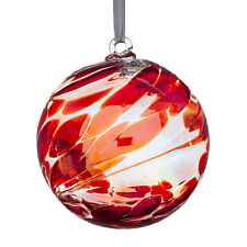 Glass Friendship or Witches Ball, 10cm Ruby By Sienna Glass